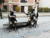 Don Quijote de la Mancha and his sidekick, Sancho